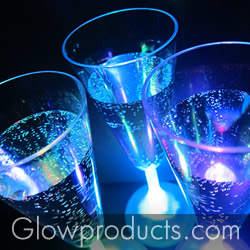 Glowing Stemware Glasses for Glow Weddings