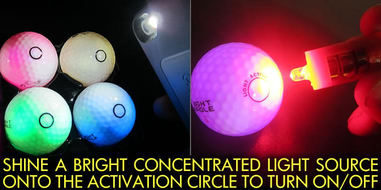 LED Golf Ball Activator Light