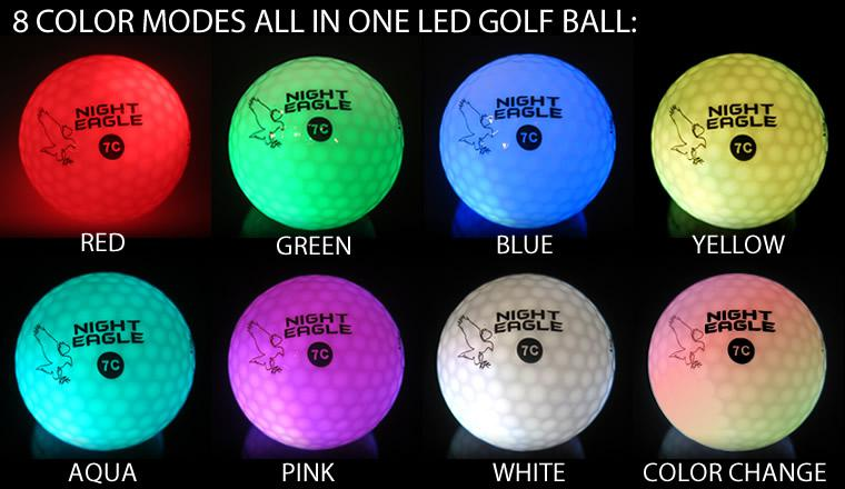 Light Up LED Golf Balls Multi-Color