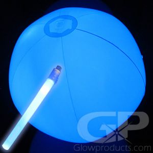 Glow Beach Ball with LED Light Insert