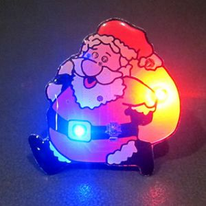 Santa Claus Flashing Pins