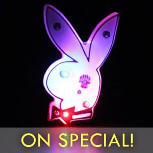 Playboy Bunny Flashing Pin Body Lights