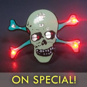 Light Up Halloween Pins Cheap on Sale