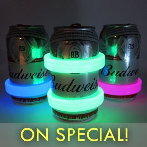 Glow Light Up Beer Cans