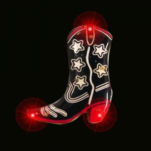 Cowboy Boot Flashing Pin Body Lights