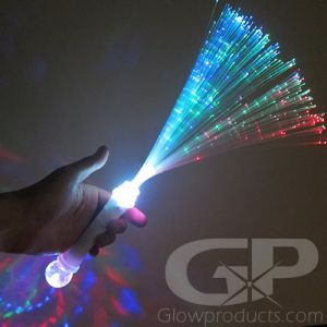 Fiber Optic Wands with Glowing Light Show Disco Ball Handle
