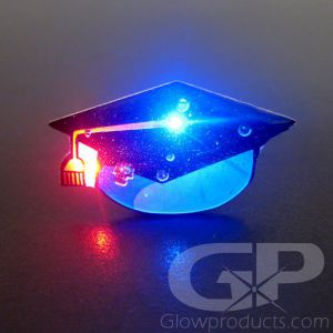 Graduation Cap Light Up Lapel Pin Flashing Body Light