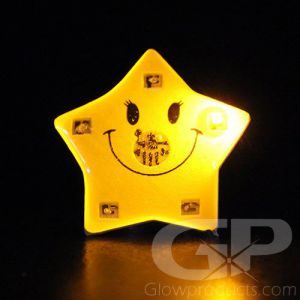 Smiling Star Flashing Pin Body Lights