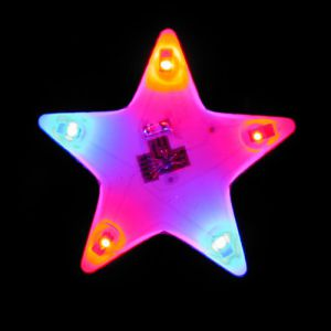 Star Shape Flashing Pin Body Lights