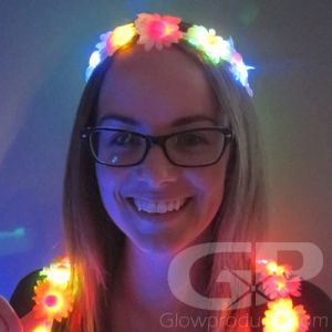 Glowing Flower Crown Headband