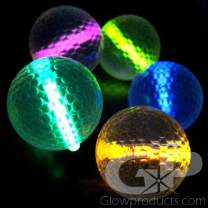 Glow in the Dark Golf Balls with Glow Insert