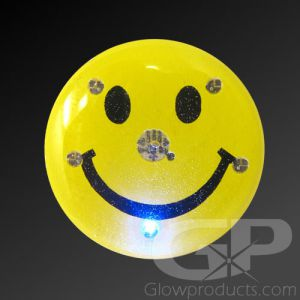 Happy Face Light Up LED Lapel Pin Body Light