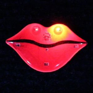 Hot Lips Flashing Pins