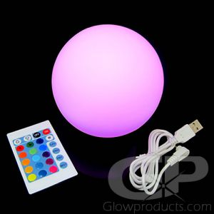 LED Round Ball Orb Decor Centerpiece Mood Lamp with Remote