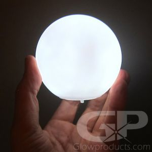 LED Glowing Orb Ball Lamp with White Light