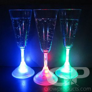 Glowing Champagne Flutes with LED Lights