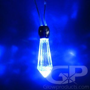 Glowing Crystal Light Up Pendant Necklace
