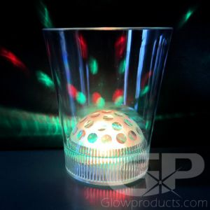 Disco Light Show Glowing Drink Glass