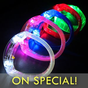 LED Light Glow Bracelets Light Up Bangle Bracelets