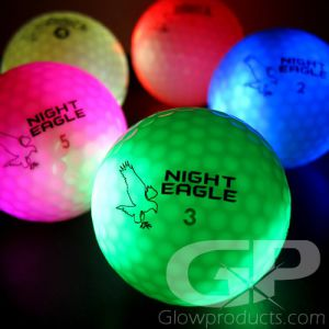 Light Up LED Glowing Golf Balls