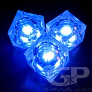 Blue Light Up LED Glowing Ice Cubes