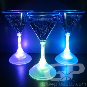 Glowing Light Up Martini Glasses