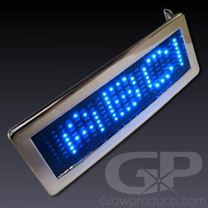 Light Up Scrolling Message LED Belt Buckle