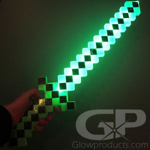 LED Light Up 8 Bit Pixel Sword