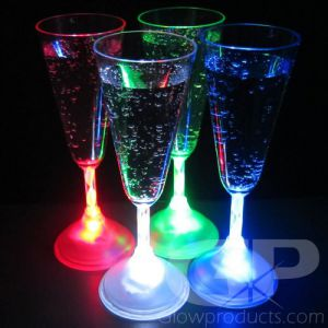 Light Up LED Champagne Glasses - Single Color