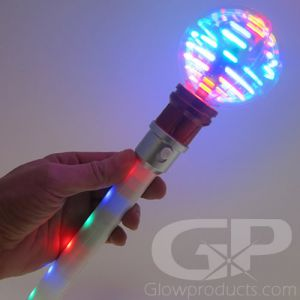 Light Up Spinning Ball Wand with Star