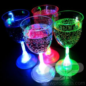 Glowing LED Wine Glasses Single Colors