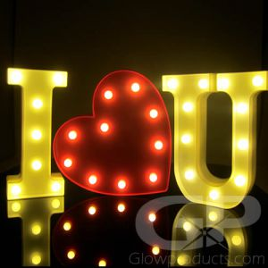 I Love You Light Up Lamps Valentines