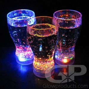 Flashing LED Drink Glow Glasses