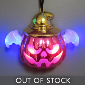 Light Up Pumpkin Halloween Glow Necklace