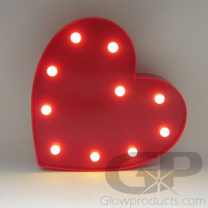Light Up Marquee Heart Shape