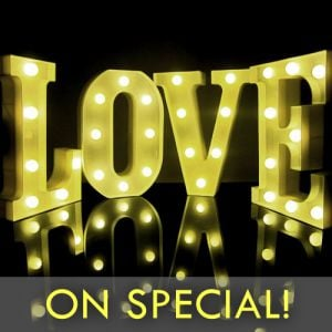 Light Up Marquee Letter Lamp Light