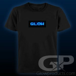 Programmable Light Up LED Message Shirt