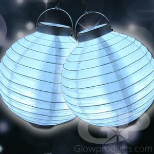 White Glowing LED Paper Lanterns