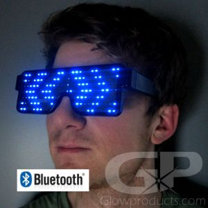 Light Up LED Rave Glasses Smartphone Bluetooth Control