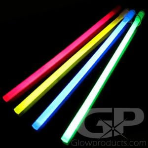 """12"""" Large Glow Sticks Assorted Color Mix"""