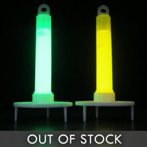 Safety Marker Glow Sticks with Stand