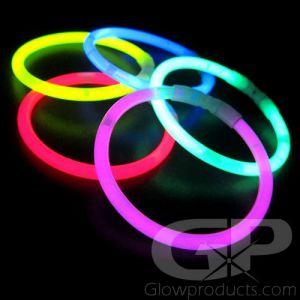 8 Inch Premium Glow Bracelets - Assorted Colors