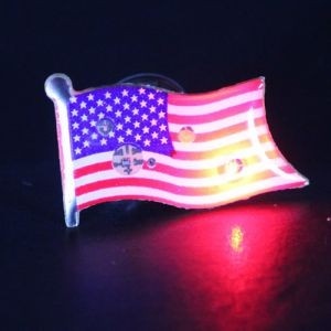 Light Up American Flag USA Lapel Pin