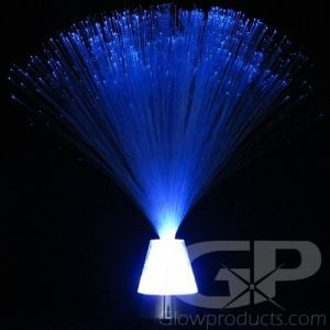 Fiber Optic Lamp with Glowing Crystal Base