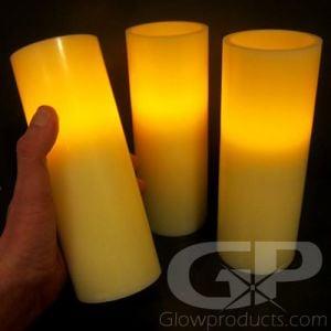 8 Inch Flameless LED Pillar Candles