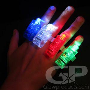 Glowing LED Flashlight Finger Rings