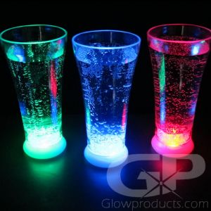 Light Up Drinking Glasses LED Glow in the Dark Drink Glass