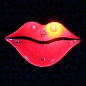 Hot Lips Light Up LED Lapel Pins Body Light