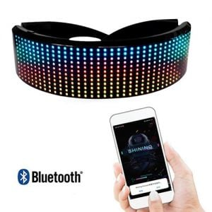 Light Up Cyber Visor Glasses with Bluetooth Smartphone Control