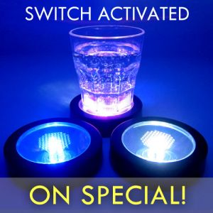 Glowing Light Up Drink Coasters